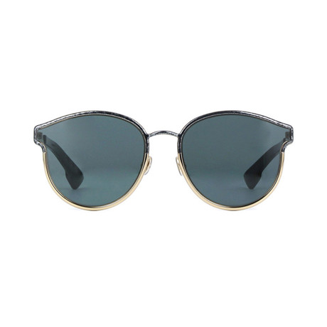 Dior // Women's Diorsymmetric Sunglasses // Black Marble + Gold