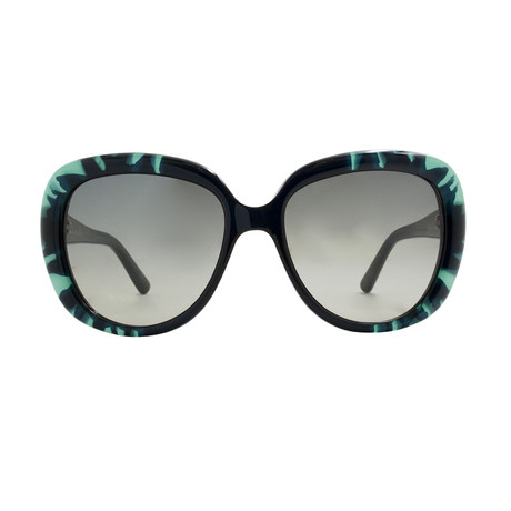 Dior // Women's Tie Dye Sunglasses // Black + Green