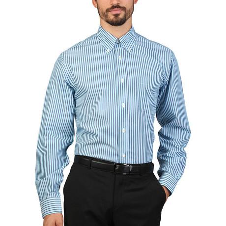 Elliott Striped Slim Fit Shirt // Blue (S)