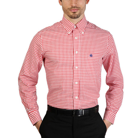 Brent Slim Fit Shirt // Red (S)