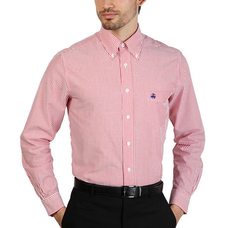 Bruce Slim Fit Shirt // Red (S)
