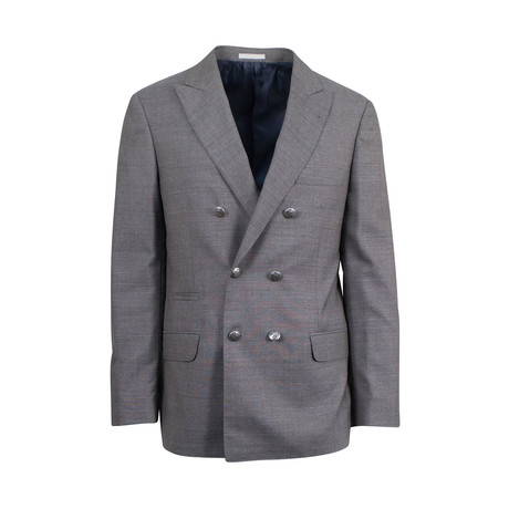 Wool Double Breasted Sport Coat II // Gray (Euro: 44)