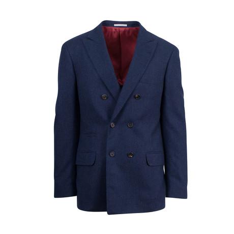 Cashmere-Silk DB Sport Coat // Blue (Euro: 44)
