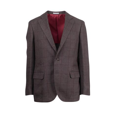 Wool Blend Sport Coat IV // Brown (Euro: 44)