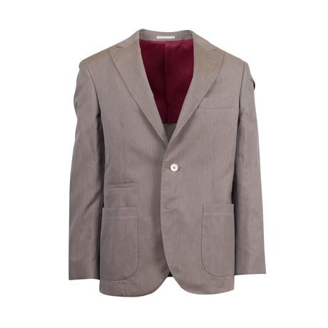 Cotton Sport Coat II // Brown (Euro: 44)