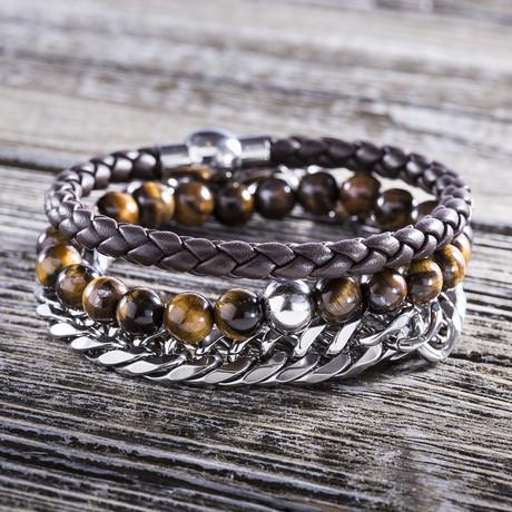 Trio Bracelet Set // Brown