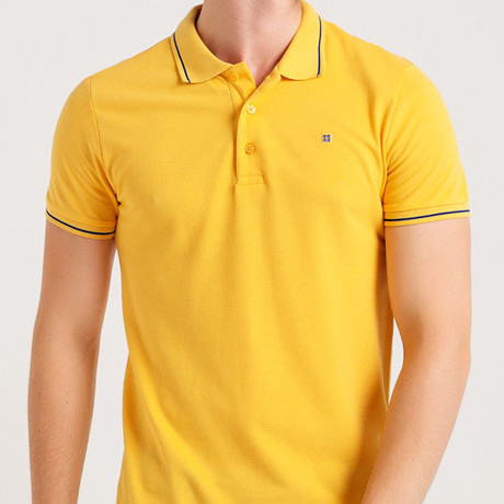 Slim Fit Polo T-Shirt // Yellow (S)