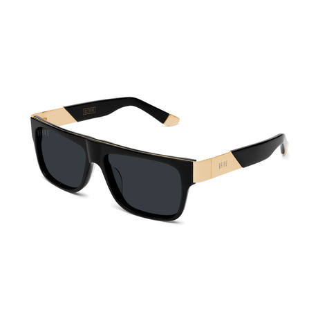 Unisex 22 Sunglasses // Black + Gold