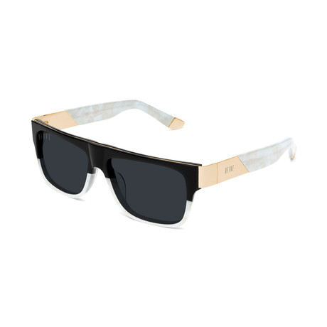 Unisex 22 Sunglasses // Black + White Marble