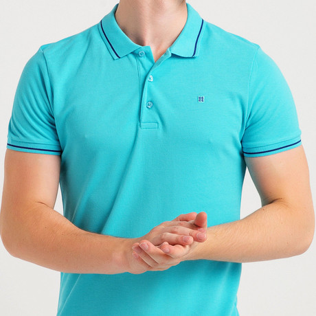 Slim Fit Polo T-Shirt // Blue (S)