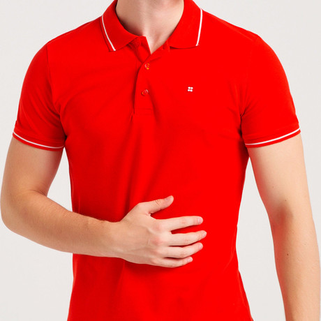 Slim Fit Polo T-Shirt // Red (S)