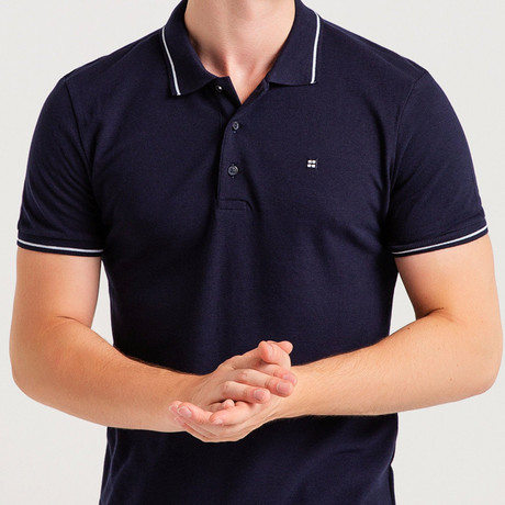 Slim Fit Polo T-Shirt // Navy Blue (S)