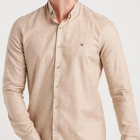 Charlie Slim Fit Shirt // Beige (XL)