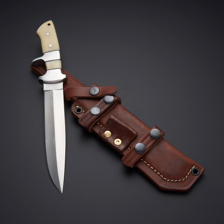D2 Exotic Camel Bone Sub Hilt Hunter Knife