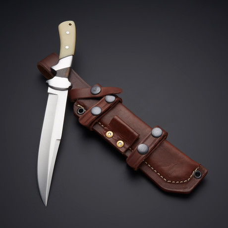 D2 Exotic Bubinga Wood + Camel Bone Sub Hilt Knife