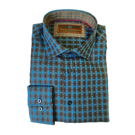 Woven Button Down Shirt // Aqua (XS)