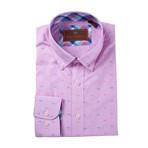 Long Sleeve Woven Shirt // Pink (XS)