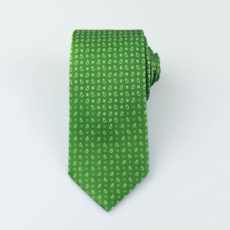 Brioni Men's Silk Tie 85 // Green