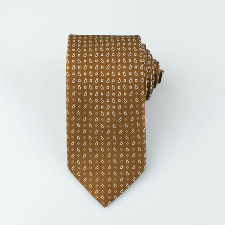 Brioni // Homer Silk Tie // Brown + Black