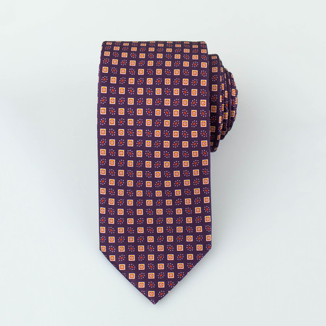Brioni // Silk Tie 133 // Dark Purple