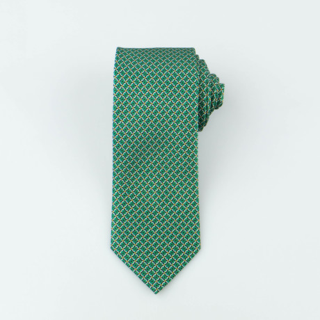 Brioni Men's Silk Tie 143 // Green