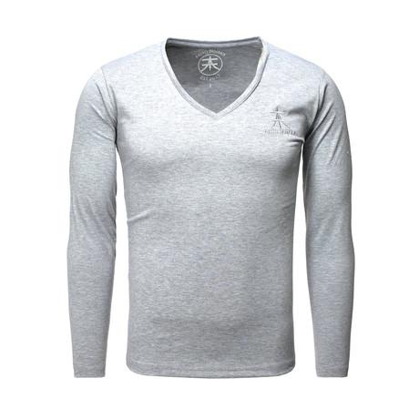 LS Basic V-Neck // Gray (XL)
