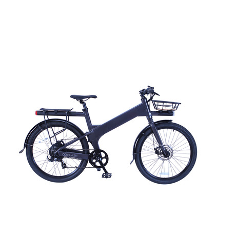 Flash v1 Commuter Deluxe Electric Bike (Charcoal)