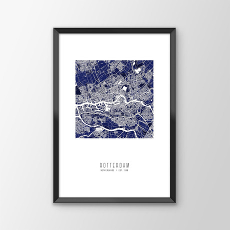 Rotterdam City Map Print