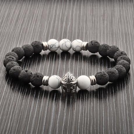 Lava + Howlite Gladiator Bracelet