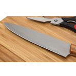 Outdoor Cutting Board Knife Set // Wood