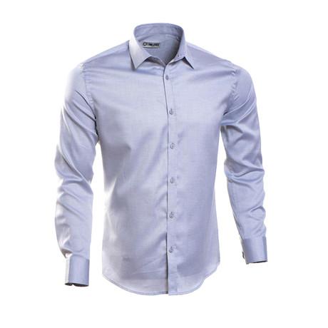 Plain Slim Fit Button-Up // Gray Blue (S)