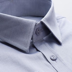 Plain Slim Fit Button-Up // Gray Blue (M)