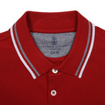 Regular Fit Polo Shirt // Red (XS)