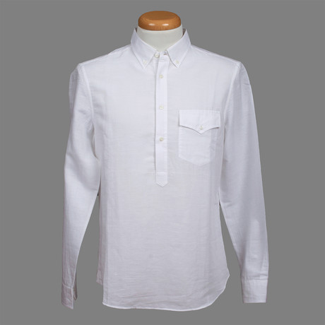 Leisure Fit Long Sleeve Shirt I // White (XS)
