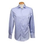 Slim Fit Long Sleeve Shirt // Blue (XS)