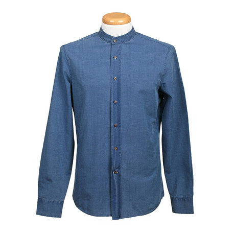 Leisure Fit Long Sleeve Denim Shirt III // Blue (XS)