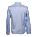 Brunello Cucinelli // Leisure Fit Long Sleeve Shirt V // Blue (S)