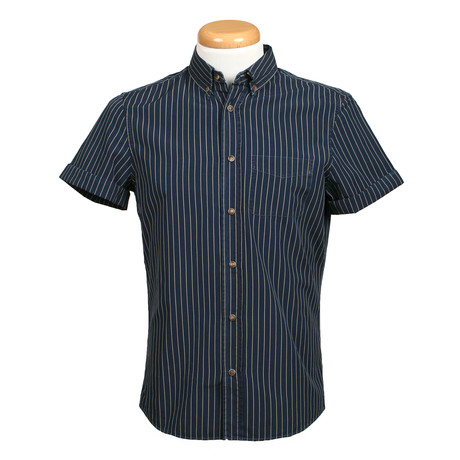 Leisure Fit Short Sleeve Shirt // Navy (XS)