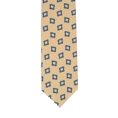 Barbuti Patterned Tie // Cream + Navy