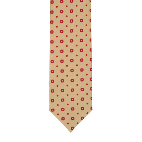 Barbuti Patterned Tie // Cream + Red