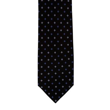 Barbuti Patterned Tie // Black + Teal + Blue