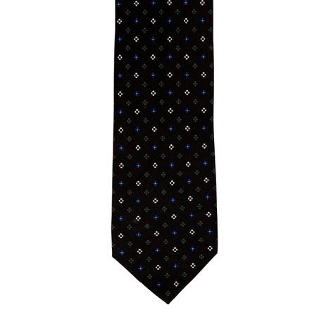 Barbuti Patterned Tie // Black + Blue + Cream