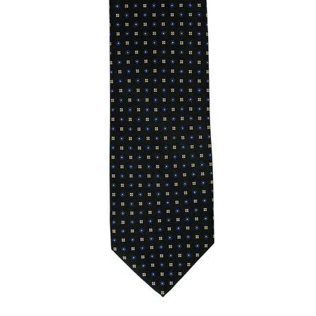 Barbuti Micro-Patterned Tie // Black + Blue