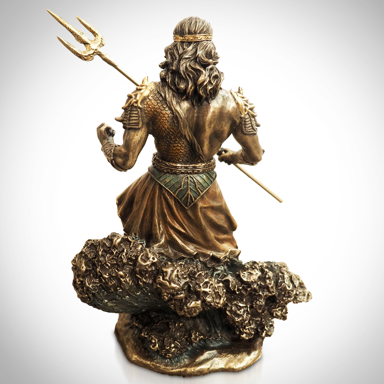 Greek God Of The Sea Poseidon // Cast Bronze Statue - RARE ...