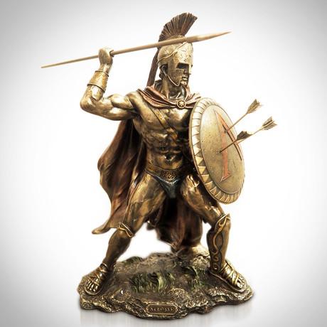 Spartan Warrior King Leonidas Arrows Pose // Cast Bronze Statue