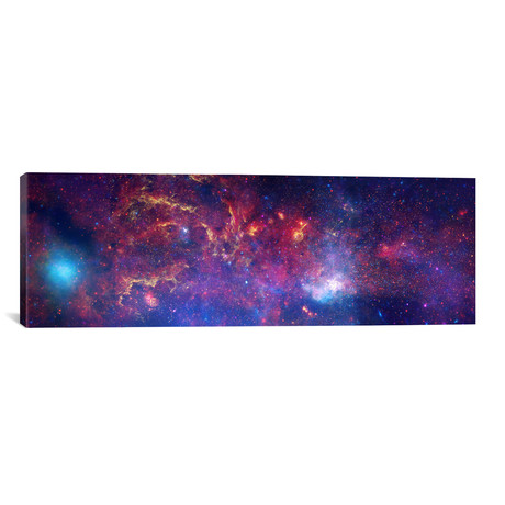 "Center of the Milky Way Galaxy (Chandra/Hubble/Spitzer) // NASA (60""W x 20""H x 0.75""D)"