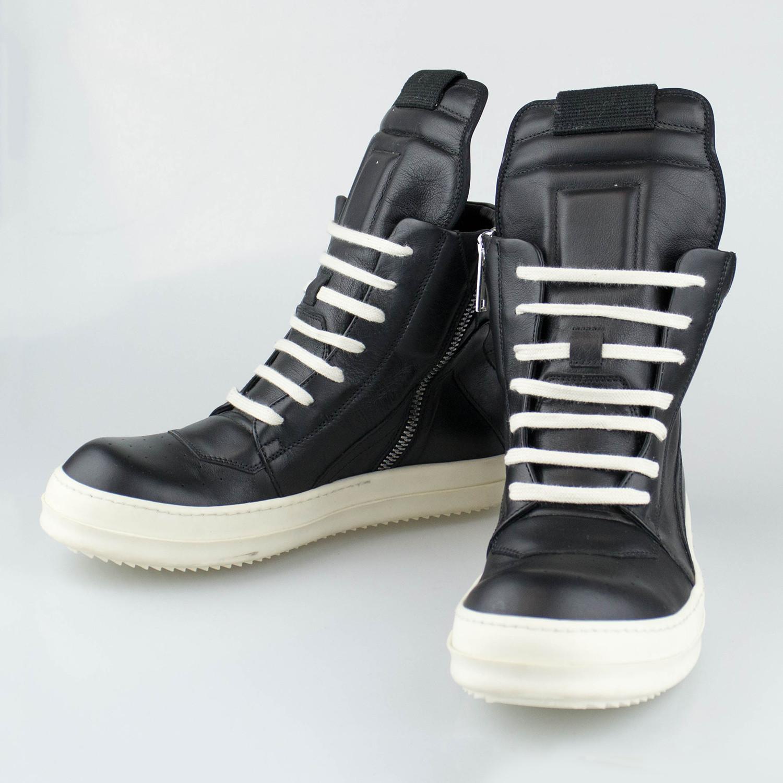 timeless design a4ce9 7b78e Rick Owens // Geobasket Sneakers // Black (US: 6) - Designer ...