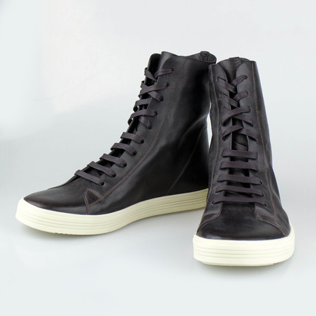 Rick Owens // Mastodon Sneaks Leather Sneakers // Purple (US: 6)