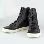 Rick Owens // Mastodon Sneaks Leather Sneakers // Purple (US: 8)