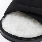 Rick Owens // Vicious Granola Fur Slides // Black (US: 8)